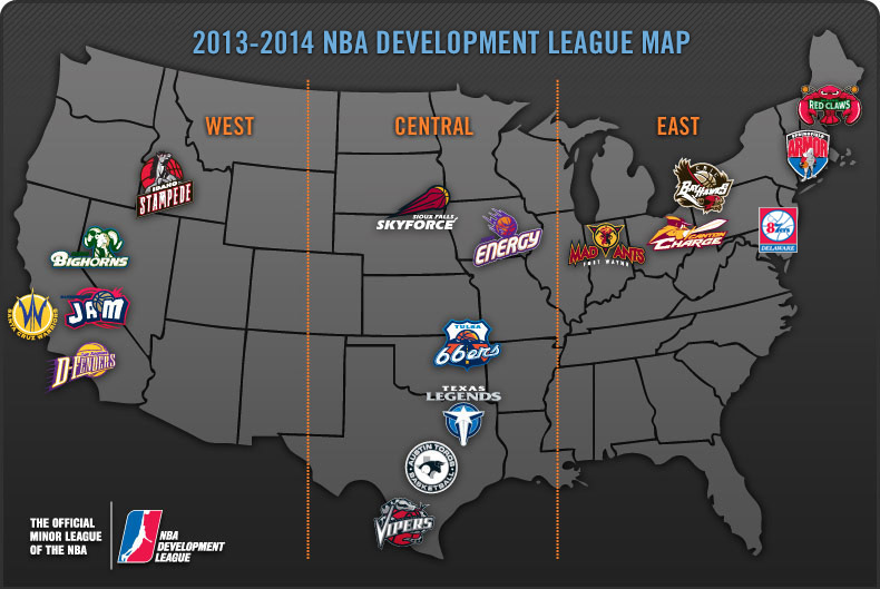NBA D-League 2013-2014 Map